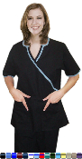 V Neck 4 Pocket Scrub Set With Boot Cut Pants.