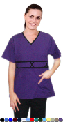 V Neck Double Piping 3 Cross Style 5 Pocket Scrub Set.