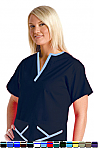 Women's Scrub Set 5 Pocket Y Neck Style.