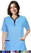 Women's 5 Pocket Tunic Style Scrub Set.