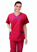 Crossover 4 Pocket Medical Scrub Set With Trim.