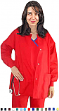Solid 2 Pocket Long Sleeve Scrub Jacket.